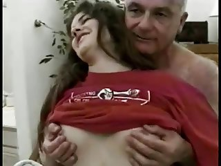 Old Man Fucks Young Hairy Janis Jones