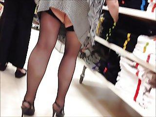 mini skirt and new heels