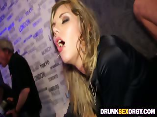 Drunk secretaries fucking at the party