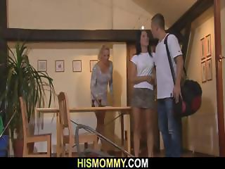 Horny mom seduces son s GF
