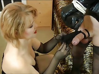 Cross dresser used by Mistress