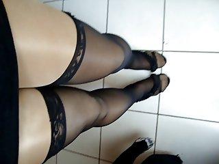 Shiny Pantyhose Crossdresser 6