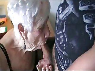 Skater dude bangs grandma