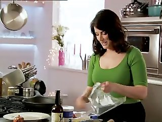 Nigella Lawson Green Top Tits