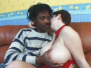Horny girl with big hooters fucked by black cock