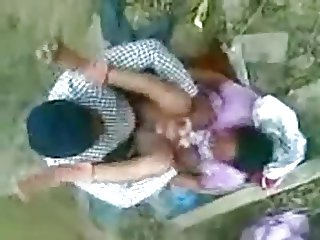 Indian guy fucks girl outdoor