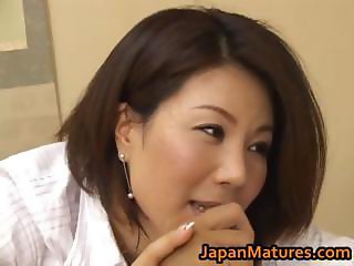 Horny japanese mature babes sucking part1