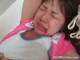 Cute young asian babe is bound part1