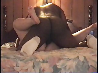 BBC Fucking a Mature Blonde BBW then Gagging Her With Cock