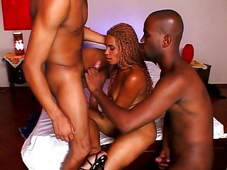 Bisexual threesome black pussy starring
