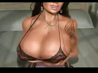 3D Busty Girl in Bra by TROC