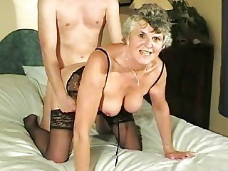 Hot Granny Fucked On Bed
