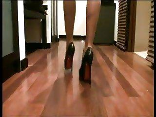 LGH German 18cm High Heels und NurDie Strumpfhose