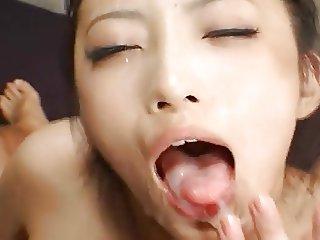 Shizuka Kanno Asian Blowjobs And Cum Eating Part 3