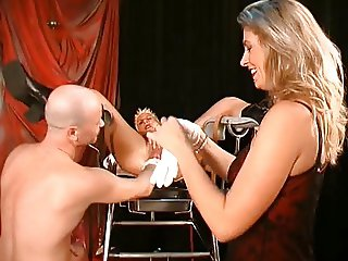First she s fisted then her labia gets pierced