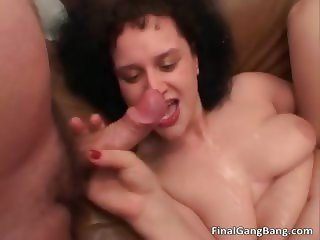 Two nasty MILF hoes suck hard cock part6