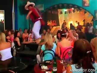 Blondie getting lapdance at party