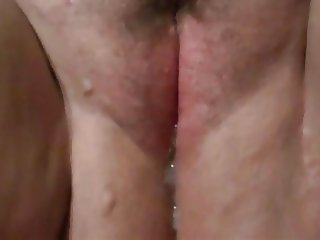 Creampie cum oozing out of girlfriends pussy